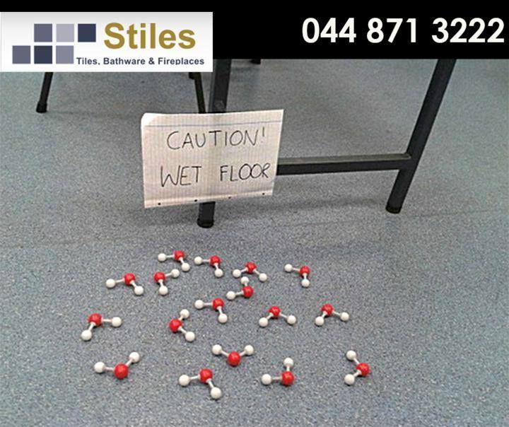 Caution - Wet Floor! #FridayFunny #StilesGeorge