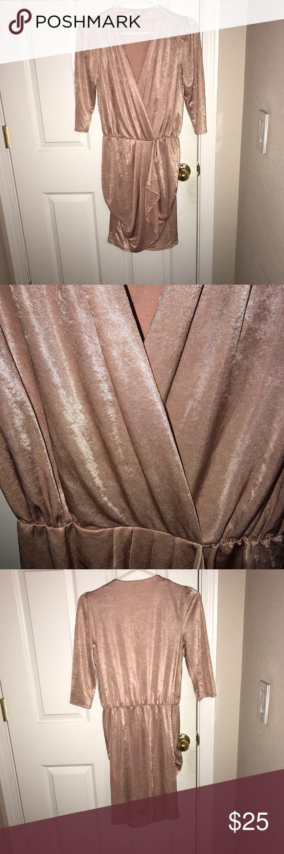 Asos cocktail dress Asos cocktail dress. NWT. Light pink metallic finish. ASOS Dresses