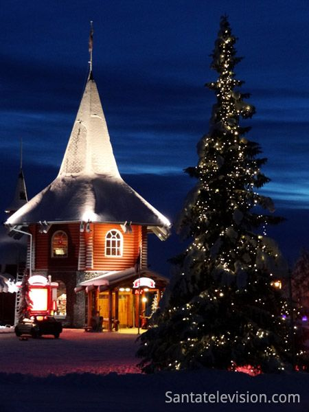 Maison de Noël du Village de Vacances du Père Noël à Rovaniemi en Finlande