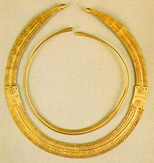 Celtic Gold Lunulae from Vizeu, Portugal