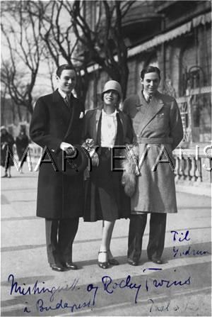 The Rocky Twins with Mistinguett in Budapest, ealry 1930s