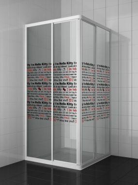 Cabine de douche d'angle HELLO KITTY APPLE 70x80x185 | Accessoires Hello Kitty et Salle de bain