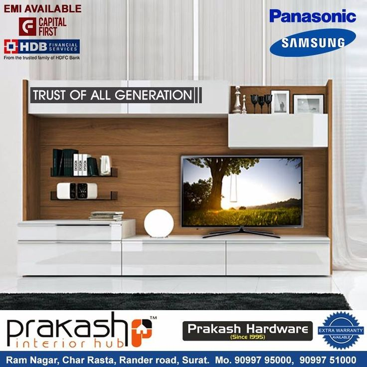 Shop for the smartest technology enabled refrigerator, washing machine, LED TV, air conditioners and other home appliances at #PrakashInteriorHub Address: Prakash Interior Hub Ram Nagar Char Rasta, Rander Road. Surat Contact details: 90997-95000, 90997-51000 #Samsung #Panasonic #Prakash #Interior #Hub #Surat #PrakashHardware #Bestdeal #InSurat