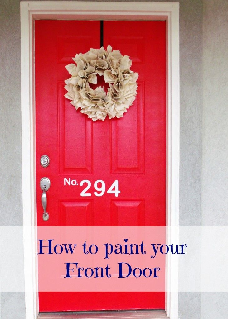 superb how to paint a front door red pictures