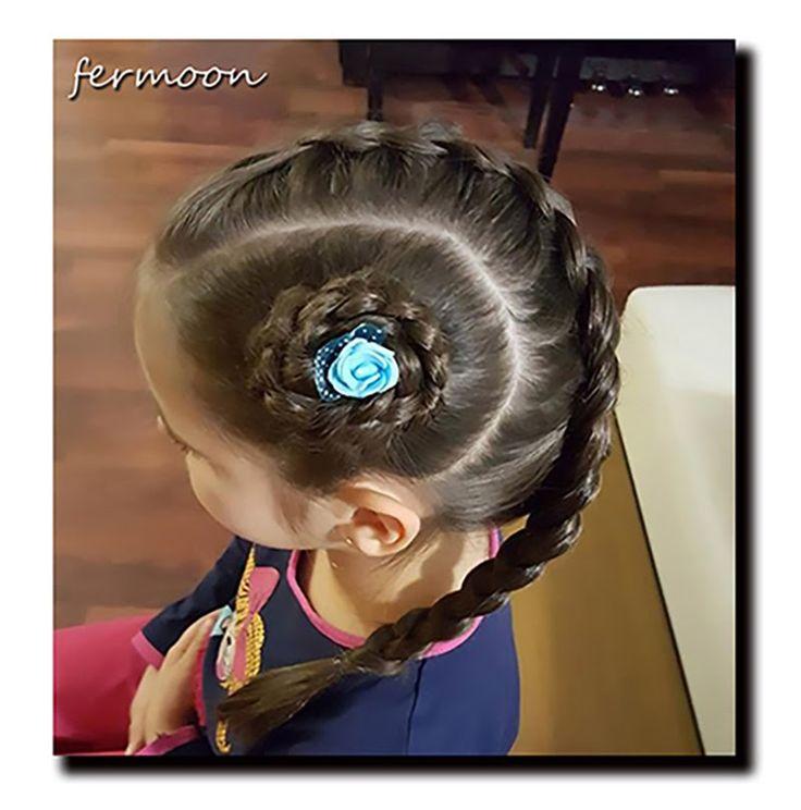 Saç Modeli 11 - Örgülü gül saç modeli, Braided hairstyle / Fermoon