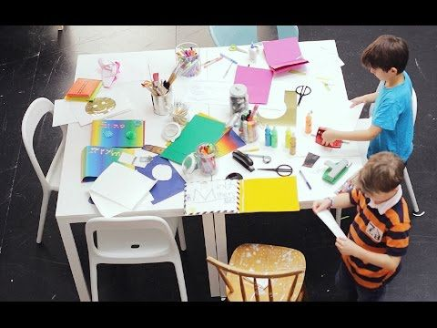 it can be challenging making a playroom cater for wider age gaps, but I like idea of couple tables for craft space
