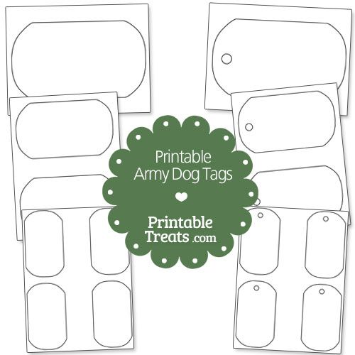 Printable Army Dog Tags from PrintableTreats.com