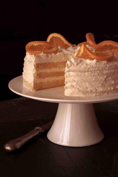 Meyer citromkrémes japánpiskóta-torta