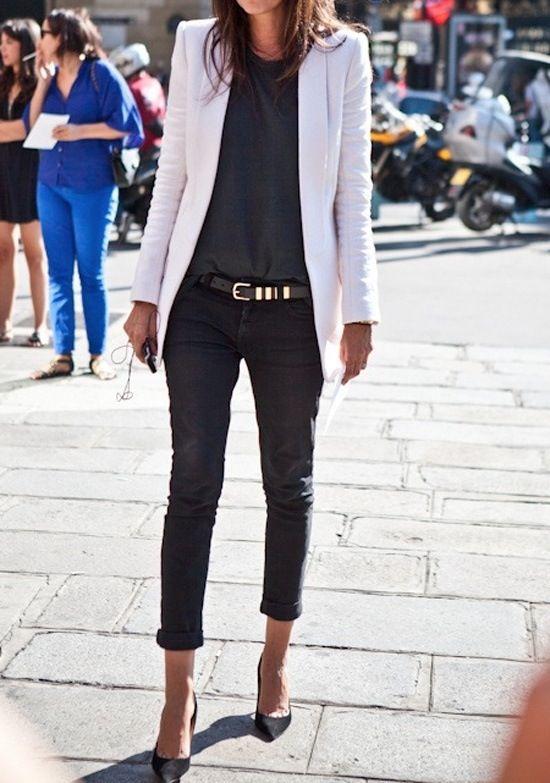 White on all black