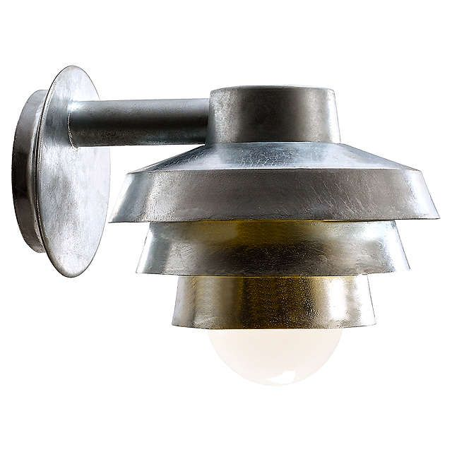 BuyNordlux Elements Galvanised Outdoor Wall Light Online at johnlewis.com