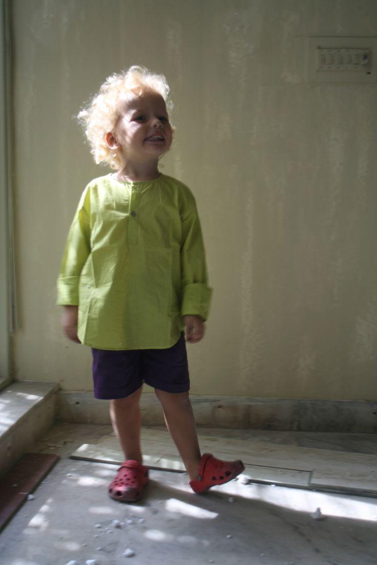 Short Kurta Lime