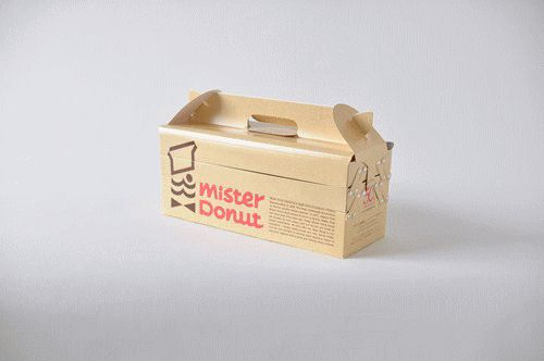 cutesign:  A fun packaging box for Mister Donut, a chain of...