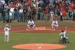 Red Sox Video: Boston Marathon Victim Jeff Bauman and Rescuer Throw 1st Pitch | Bleacher Report