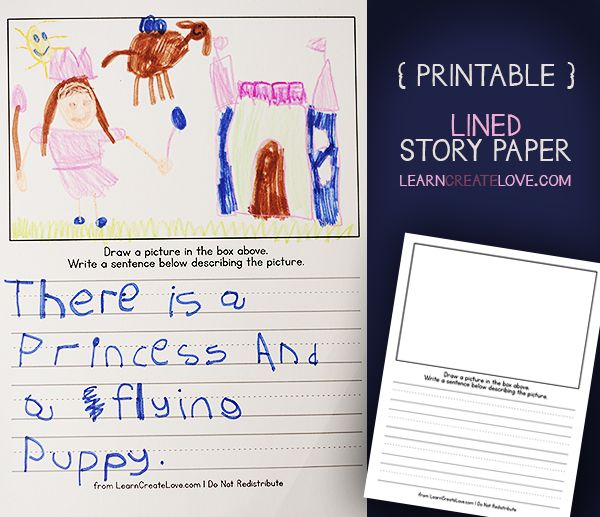 Lined story paper