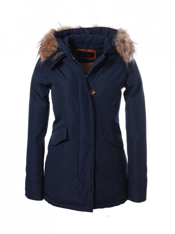 Parka winterjas voor dames blauw Fortesoro