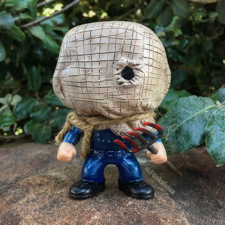 "Custom Jason Funko Pop by (@funkoboss) on Instagram: ""So... @dehmarcelo ! What Do You Think!? My Custom JASON VOORHEES In SACK MASK! Friday The 13th…"""