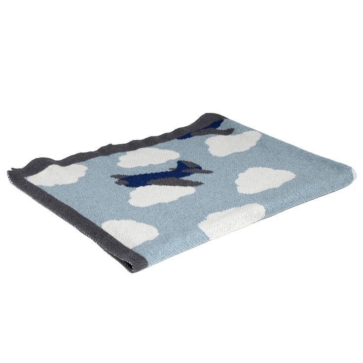 Organic Baby Throw Blanket - Baby Airplane