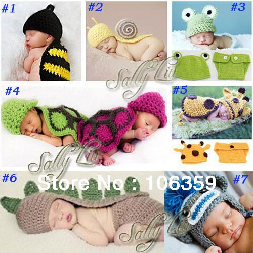 Handmade Children Hat Newborn Baby Crochet Beanie Toddler Knitted Animal Hat Photography Props 5sets/lot Free Shipping on AliExpress.com. 5% off $36.10