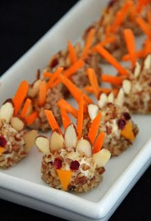 Mini Cheese Ball Turkeys