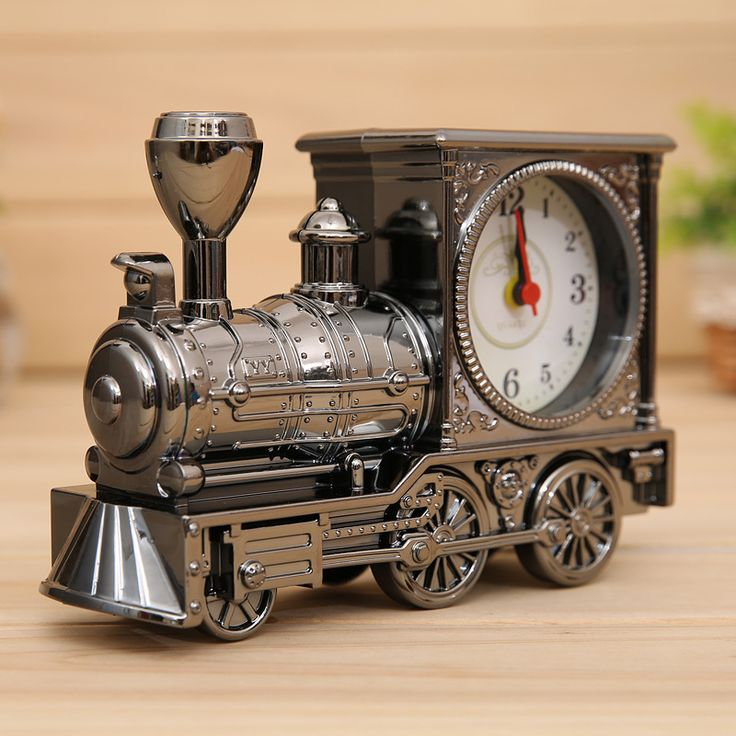 Find More Alarm Clocks Information about Antique Alarm Clocks Home Furnishing Decor Creative ABS Locomotive Shape Desk Clocks Silver Gold Grey Student Gifts,High Quality gift clock,China clock desk Suppliers, Cheap gift alarm clock from Products Sea on Aliexpress.com