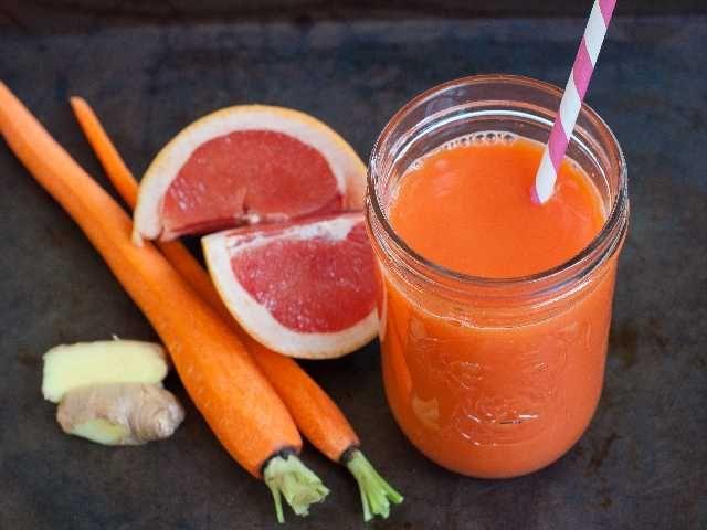 Succo di pompelmo e carota - A tavola con gioia