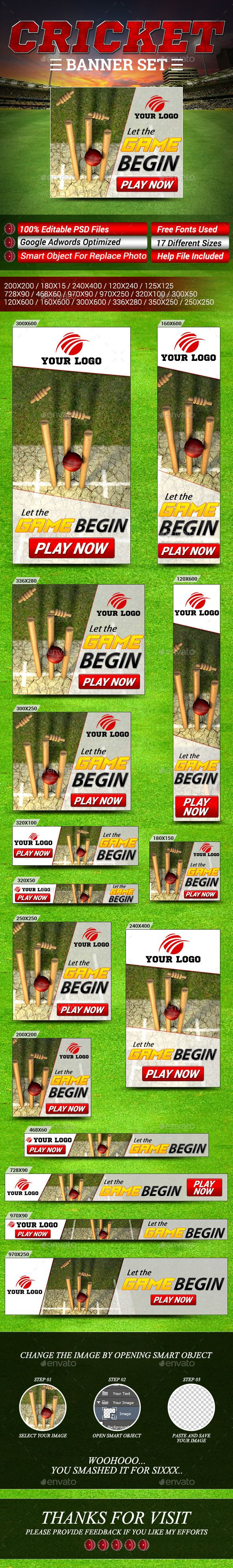 Cricket and Sports Banner Set