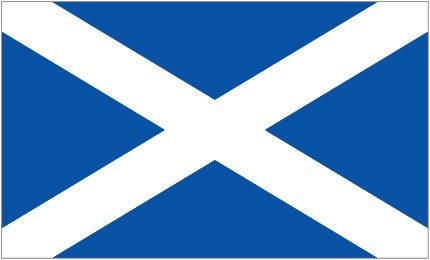 Flag of Scotland, a part of the British Empire and standing member in the Commonwealth. This magnificent country is home to bagpipes and a tribe of barbarically heroic people who were some of the only people that stood up to the Roman Empire, and won.