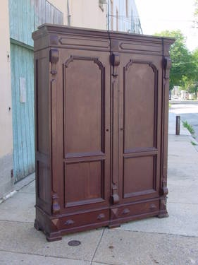 FOR SALE: Large Ornate Armoire From The Victorian Period, Classic Eastlake  Style, Made