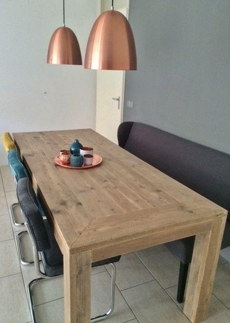 Dining Table - weathered pinewood Eettafel - steigerhout