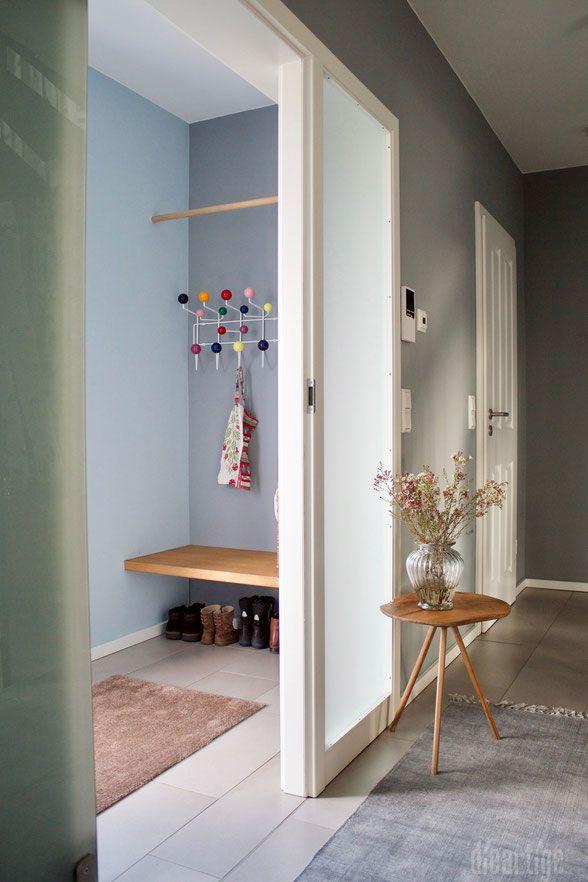 Dieartige Schonerwohnen Raumgestaltung Flur Vorflur Hang It All Garderobe Eiche Graue Wand Wohnen Schoner Wohnen Windfang