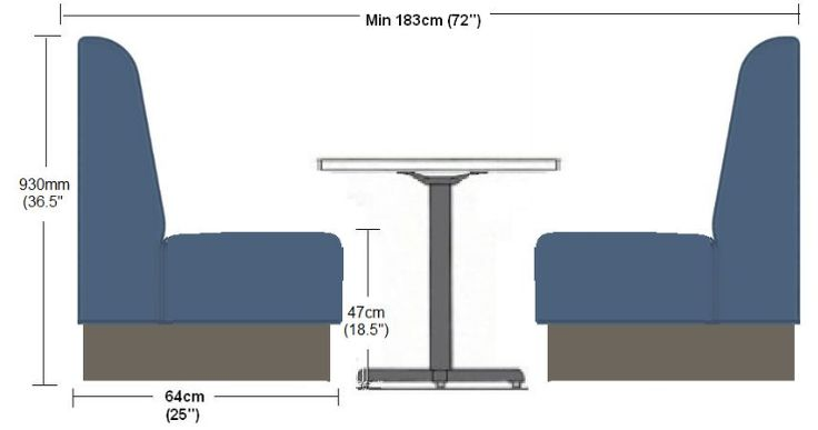Booth & Banquette Seating Solutions - Our Curved Fluted Booths are custom sized to suit your interior space.