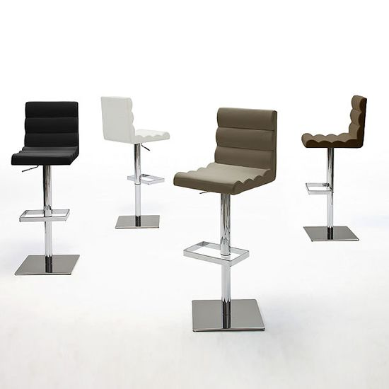 Drago Bar Stool In Brown Faux Leather With Chrome Base  sc 1 st  Pinterest & 112 best Bar stools And Kitchen Bar Stools images on Pinterest ... islam-shia.org