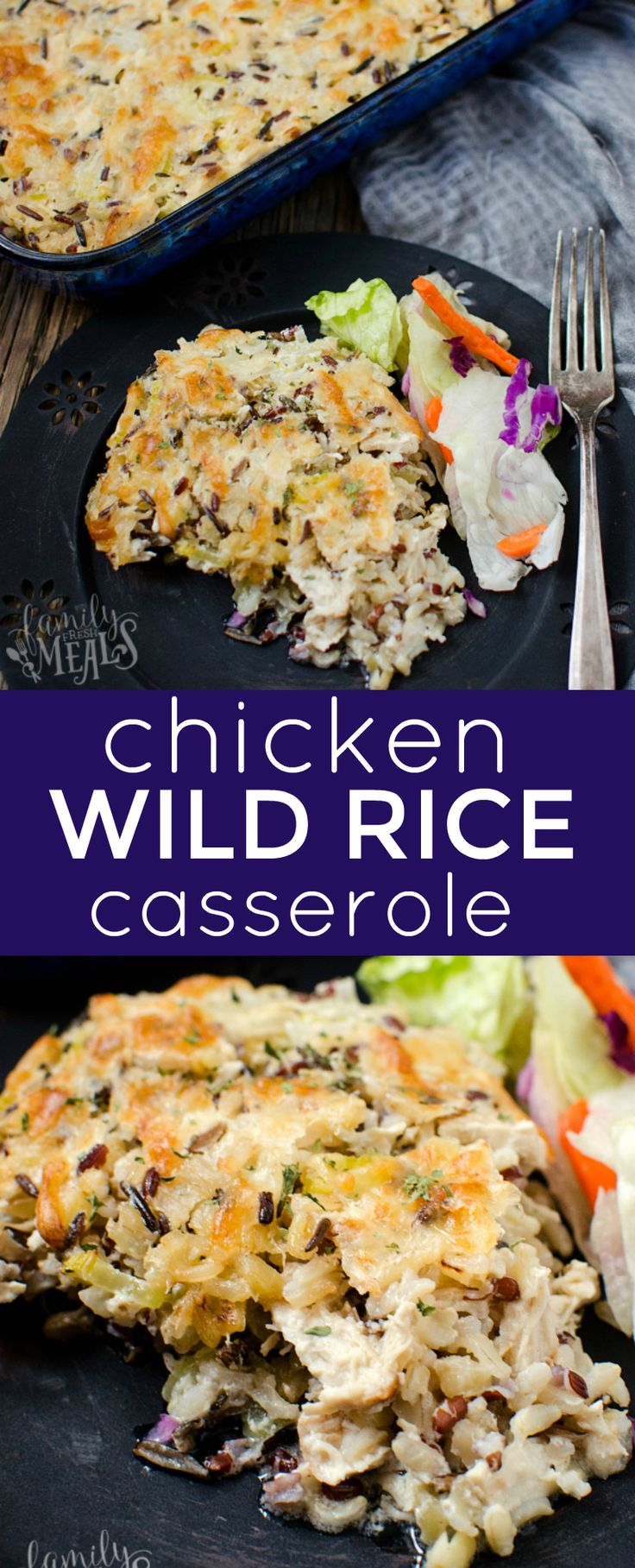 Chicken Wild Rice Casserole Recipe - FamilyFreshMeals.com