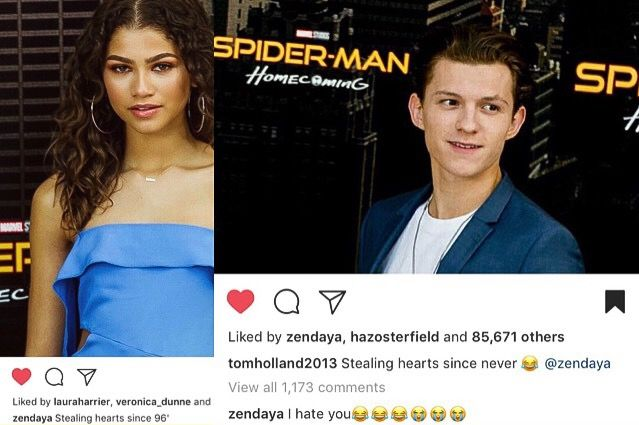 Zendaya & Tom Holland   Spiderman   Spider-Man Homecoming press  
