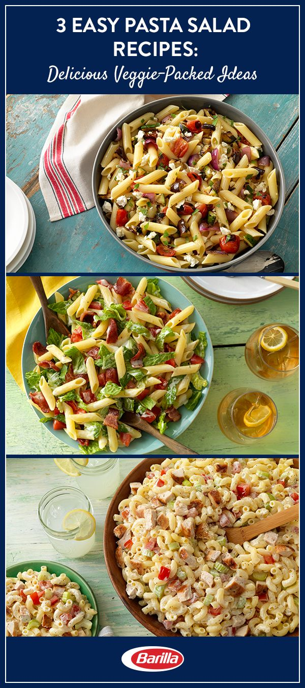 Quick, packed with veggies, and kid-approved, these weeknight pasta salad meals give you back time you can spend with your family—without any fuss about what's for dinner. Visit Barilla.com for the full recipes.