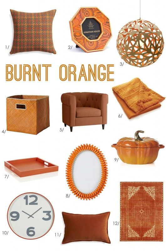 Burnt Orange Accessories for Fall! I love burnt orange - one of my favorite colors!!