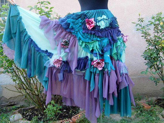 Skirt gypsy fairytattered skirt ruffle skirt layers by radusport, $74.00