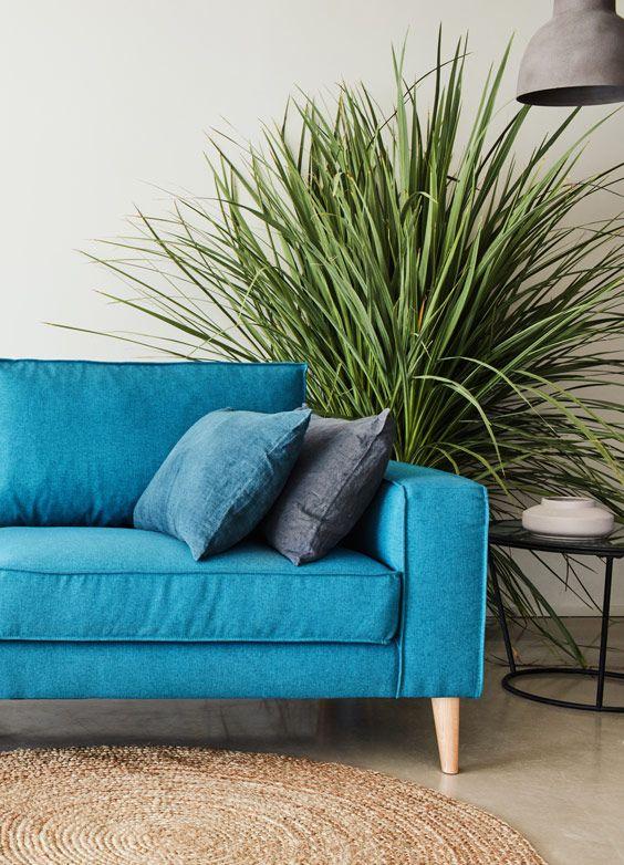 Une touche de douceur et de la végétation pour un intérieur naturel déco salon