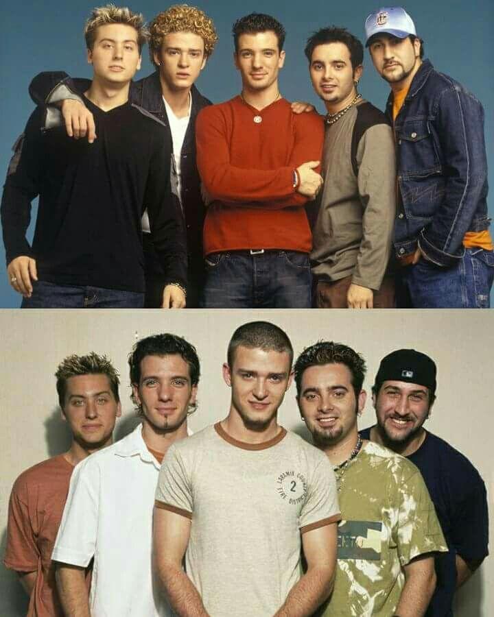 Immagine di nsync, jc chasez, Joey fatone, Justin timberlake, 90s, 2000s, boyband
