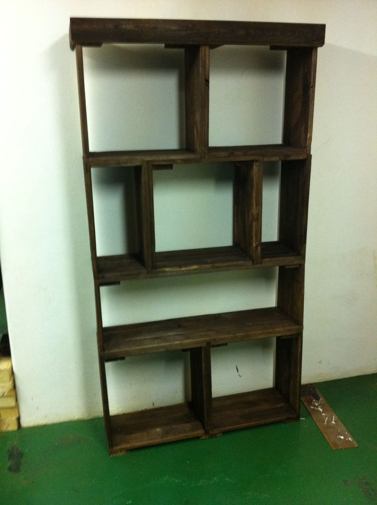 Pallet Bookshelf I made for my mother in-law