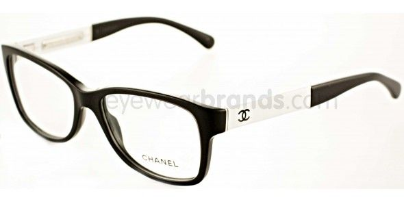 Glasses Frame Black And White : Chanel CH3232Q 1348 Black/White Chanel Glasses Chanel ...