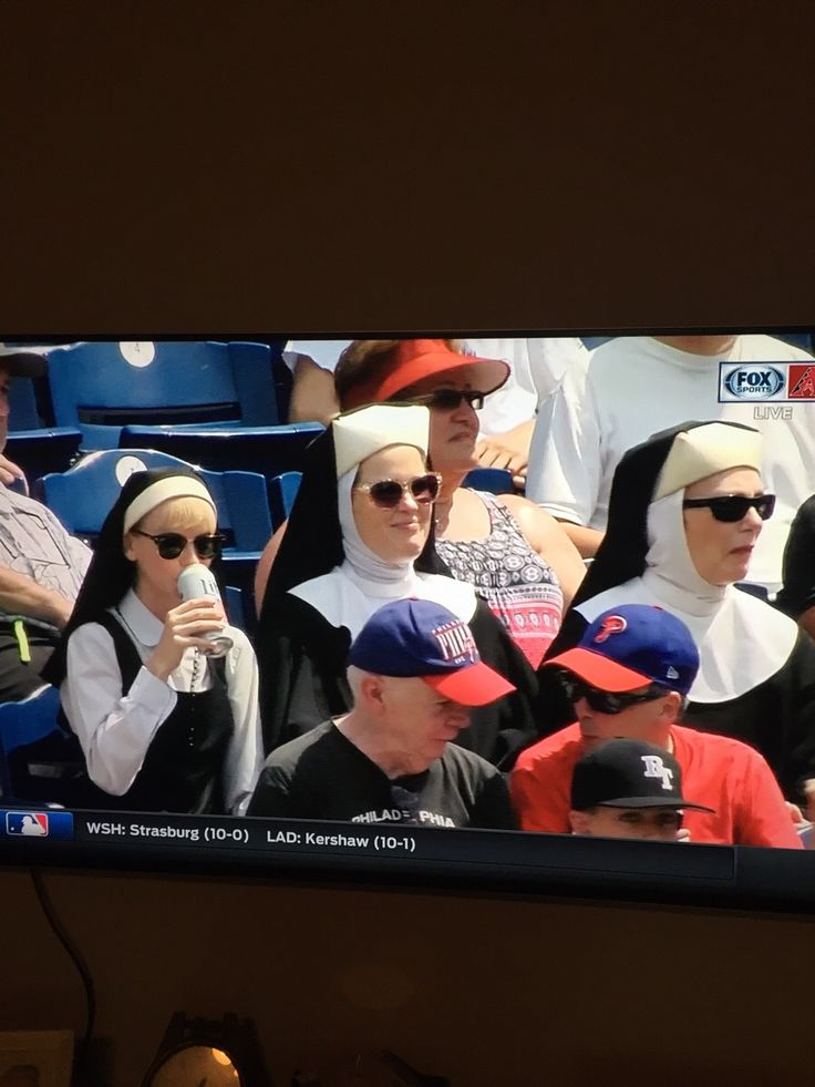 Nuns at the Phillies game today