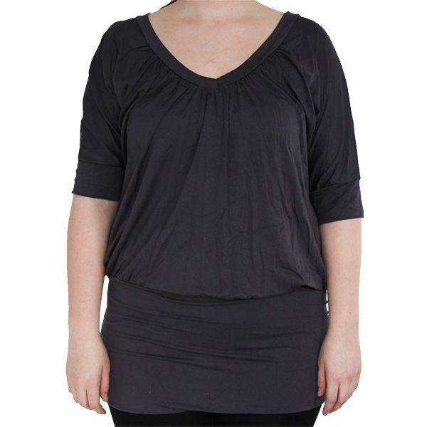 Jills Plus - harmaa pitkä paita - Paidat - Jills.fi  koko xl. 27,90e