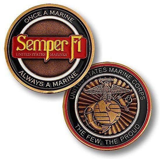 Semper Fi Challenge Coin