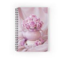 Spiral Notebook.  #roses #pinkroses #lavenderpinkroses #pinkrosesstillliferoses #stillliferoses #rosesandteapot #teapotart #teapot #teatime #holidaygifts #floralhomedecor #victoriamagazinestyle #romantichomesstyle #floralhappiness  #floralloveliness #sandrafoster