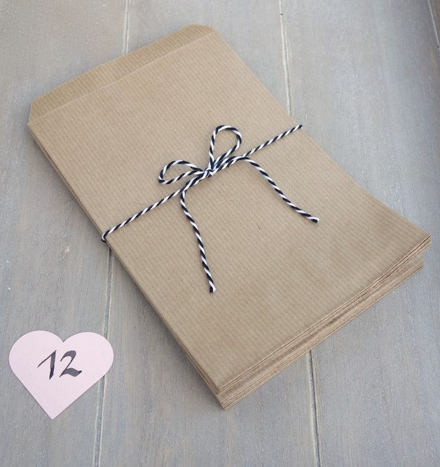 Papiertüten für Mitgebsel Gastgeschenke Kraftpapier Hochzeit Vintage Bohème myjoliedeco