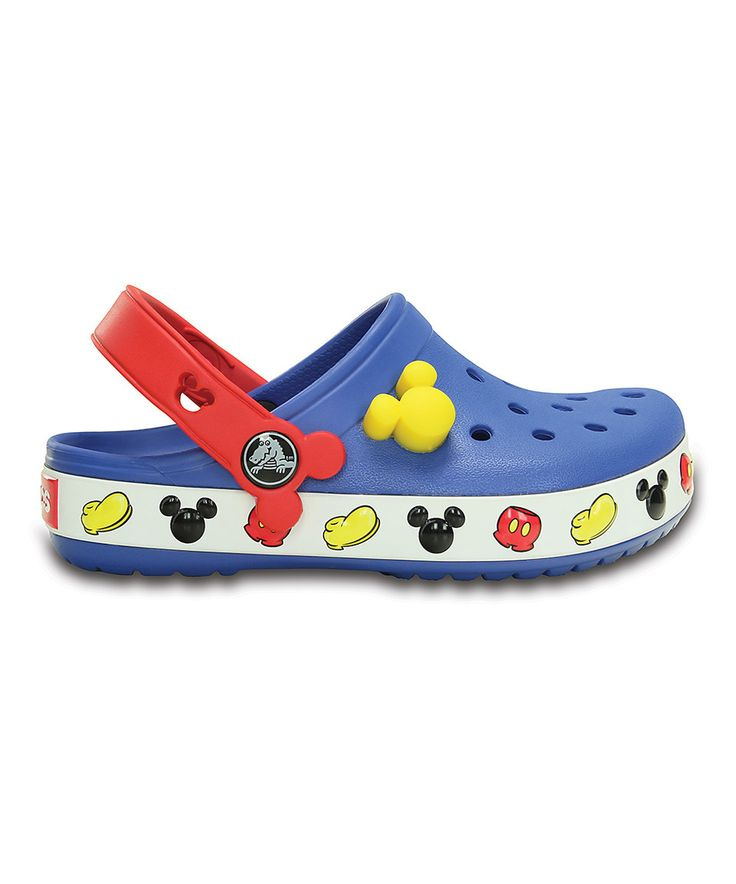 This Crocs Mickey Mouse Sea Blue Crocband™ II Clog - Toddler & Kids by Crocs is perfect! #zulilyfinds