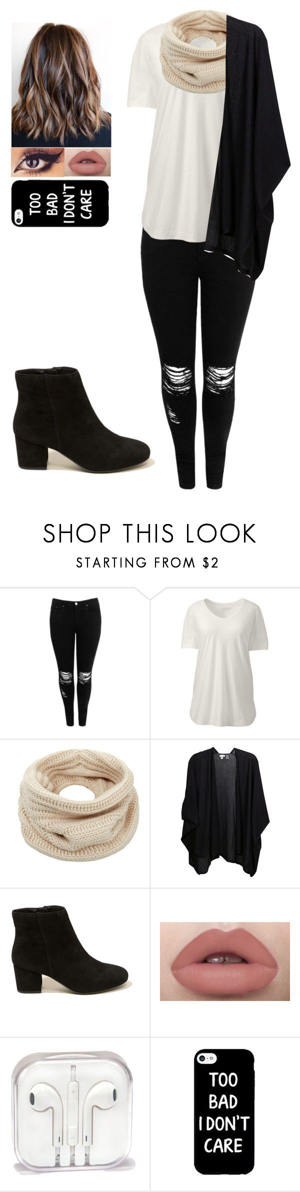 """""""Plus size winter outfit"""" by love-5secondsofsummer ❤ liked on Polyvore featuring Boohoo, Lands' End, Helmut Lang, Kinross, Hollister Co. and plus size clothing"""