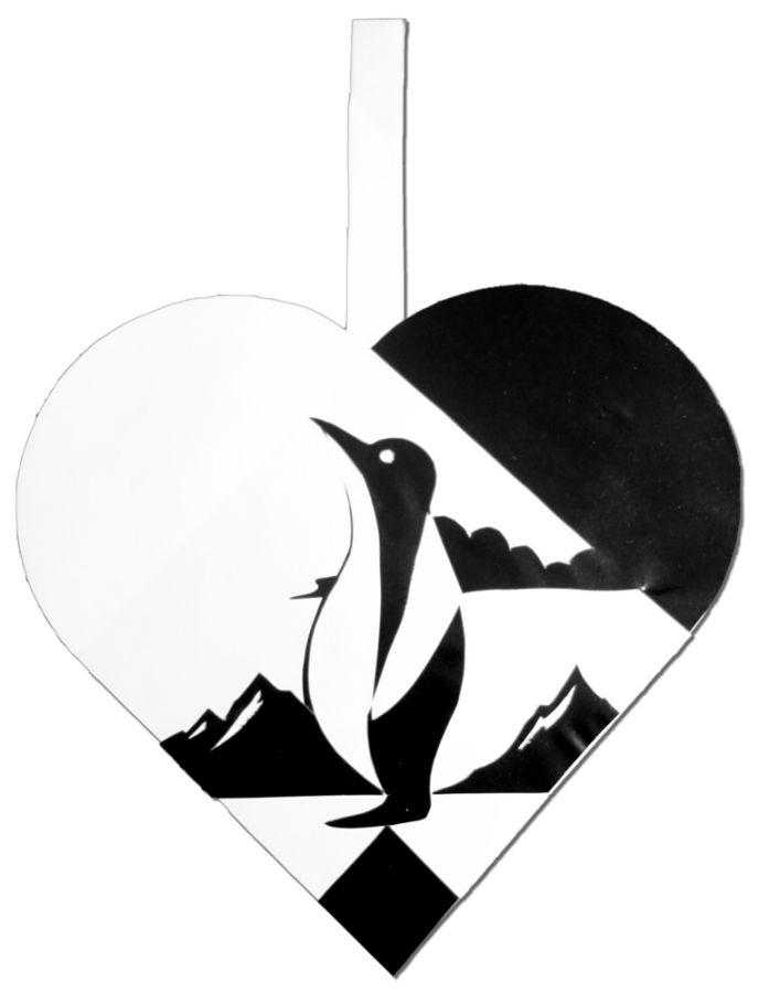 Julehjerte - Pingvin