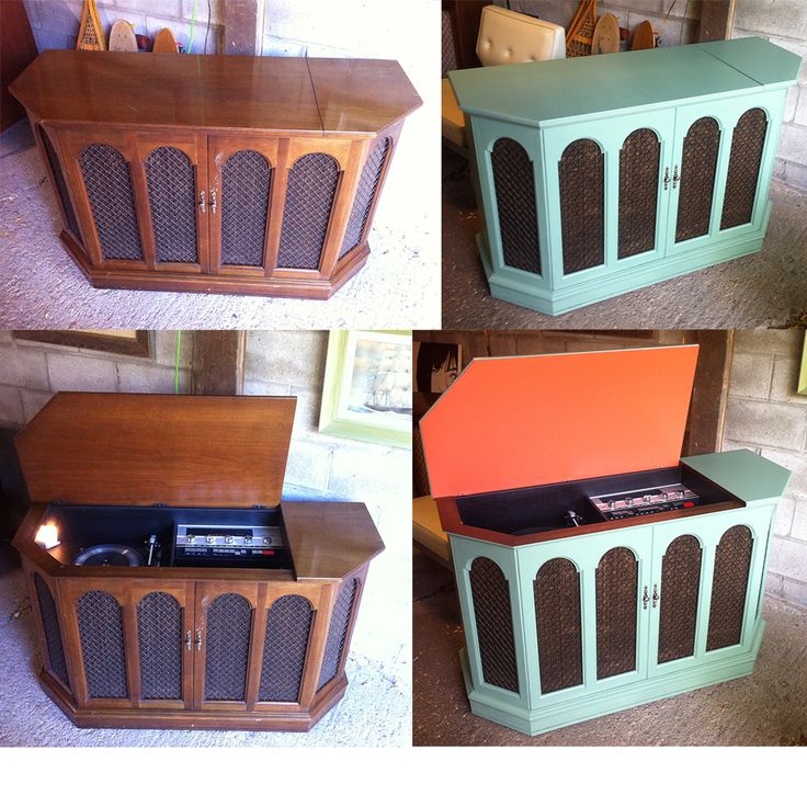 late 70's Clairtone stereo Garrard turntable, greats great.  Before and After   pacificjunctionshop@gmail.com